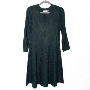 Eliza j•forest green sweater dress